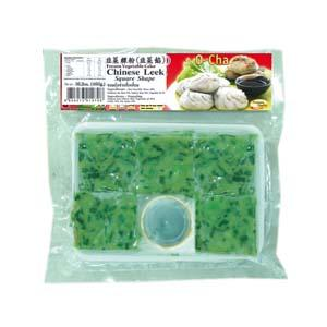 Frozen Vegetable Cake Chinese Leek Flavor in Square Shape (Kanom Ku Chai)(460g)