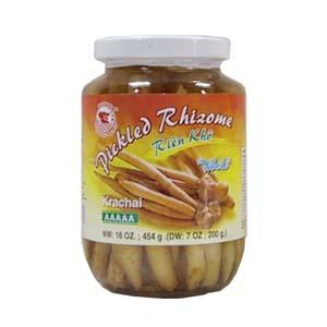 Pickled Rhizome Whole (Krachai-Galingale)(454g)